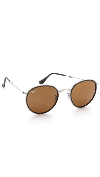 Ray-Ban Polarized Round Folding Sunglasses