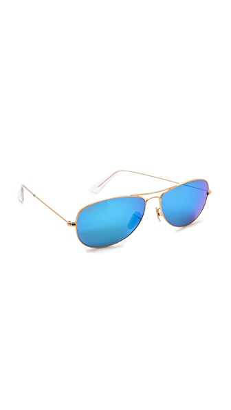 Ray-Ban Mirrored Shrunken Aviator Sunglasses