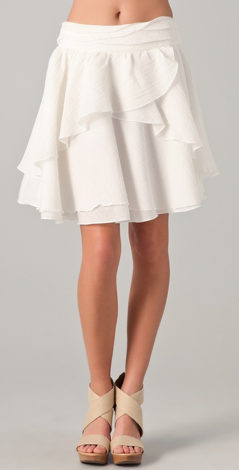 Richard Chai Love Double Layer Skirt