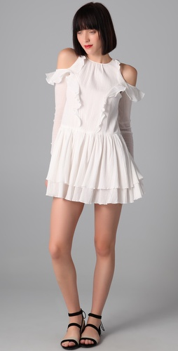 Richard Chai Love Long Sleeve Flounce Dress