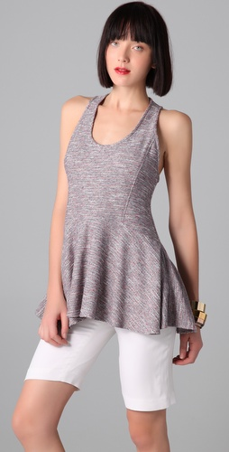 Richard Chai Love Racer Back Flounce Tank