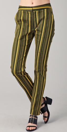 Richard Chai Love Skinny Striped Trousers