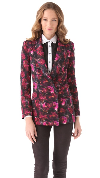 Richard Chai Love Oversized Seamed Blazer