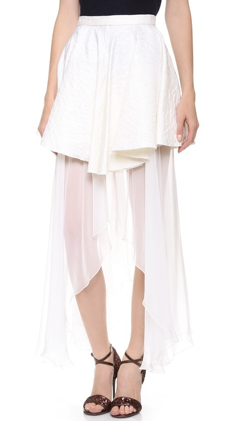 Rodarte Woven Skirt with Silk Lining