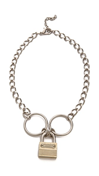 Rodarte Padlock Chain Necklace