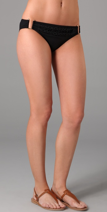 Red Carter Corn Row Bikini Bottoms