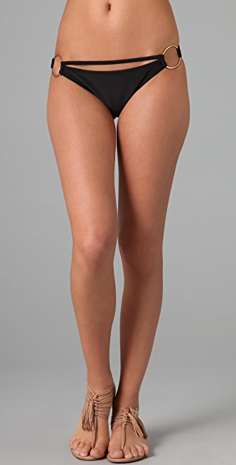 Red Carter Jackson Pollock Solid Bikini Bottoms