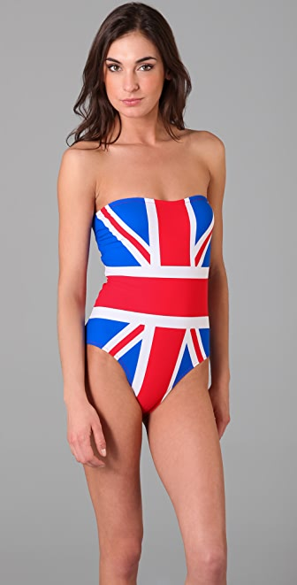 Red Carter Union Jack One Piece