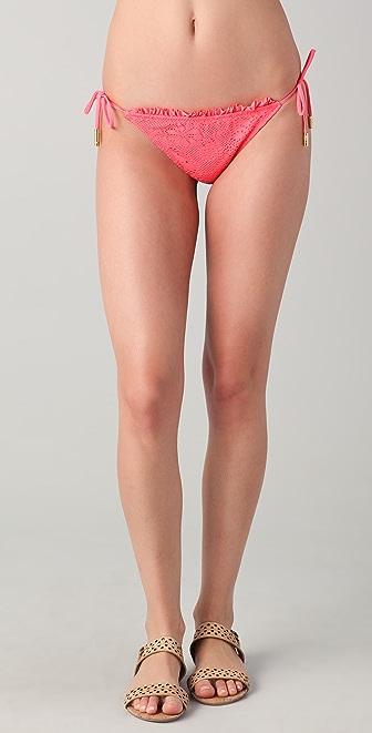 Red Carter Watermelon String Bikini Bottoms