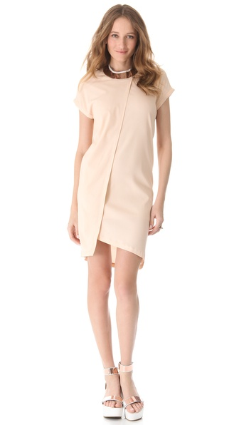 RDM by Rue du Mail Metallic Collar Dress