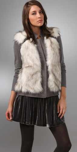 Rebecca Taylor Fab Faux Fur Vest