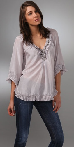 Rebecca Taylor Raw Edge Blouse