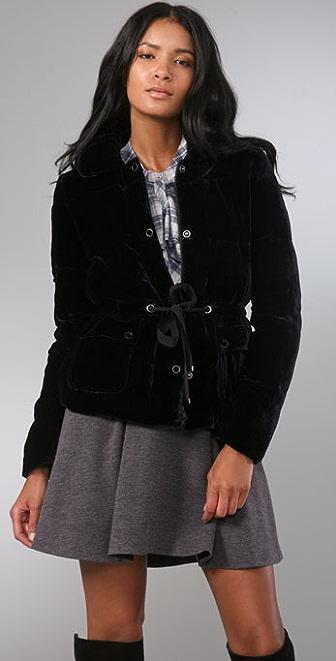 Rebecca Taylor Velvet Puffa Jacket
