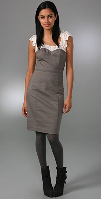 Rebecca Taylor Bustier Combo Dress