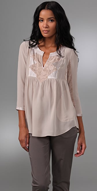 Rebecca Taylor Bohemian Evening Blouse