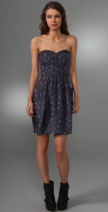Rebecca Taylor Quilted Silk Tea Dress