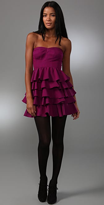 Rebecca Taylor Fit & Tiered Party Dress