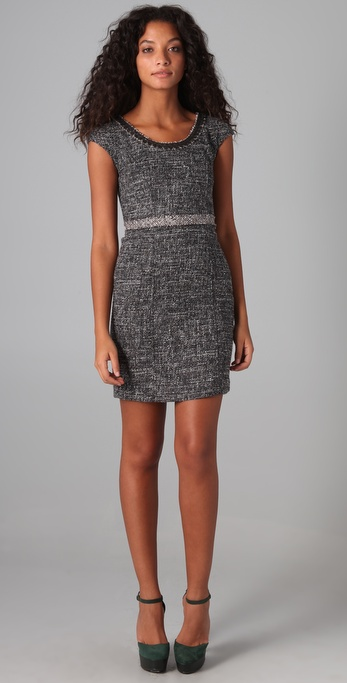 Rebecca Taylor Sequin Boucle Dress