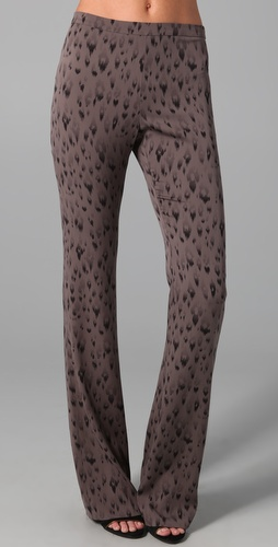 Rebecca Taylor Leopard Print Flare Pants