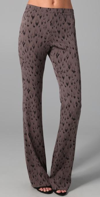 Rebecca Taylor Leopard Print Flare Pants