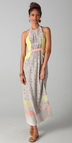 Rebecca Taylor Floral Printed Halter Dress
