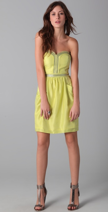 Rebecca Taylor Strapless Party Dress