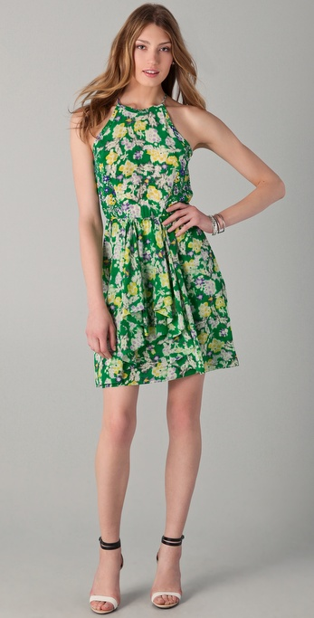 Rebecca Taylor Garden Flower Flutter Dress