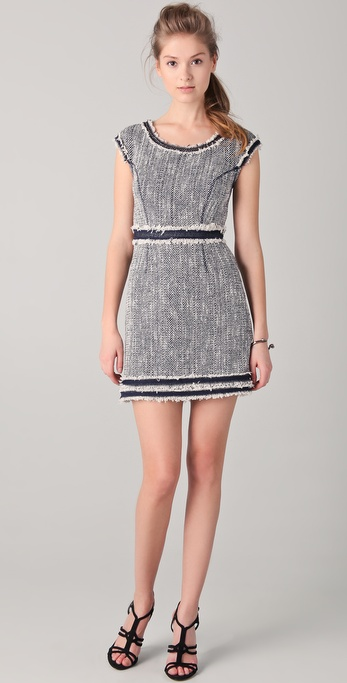 Rebecca Taylor Now & Later Tweed Dress