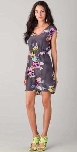 Rebecca Taylor Wild Rose Print Dress