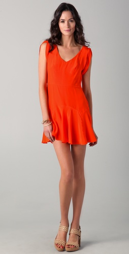 Rebecca Taylor Fit & Tied Dress