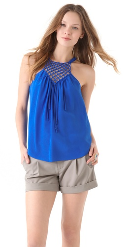 Rebecca Taylor Macrame Camisole