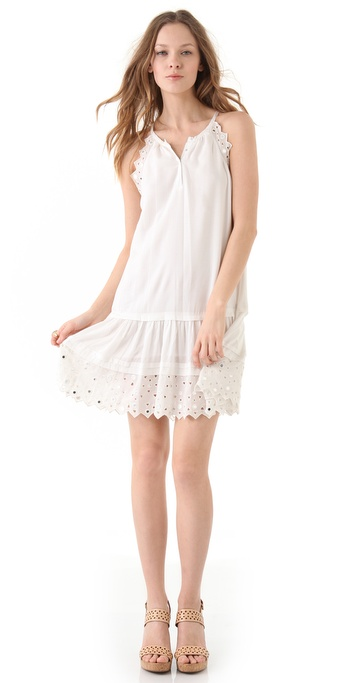 Rebecca Taylor Tiles Embroidered Dress