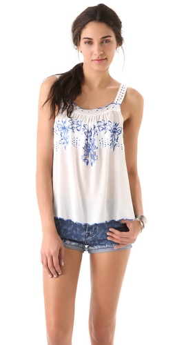 Rebecca Taylor Moroccan Embroidered Camisole