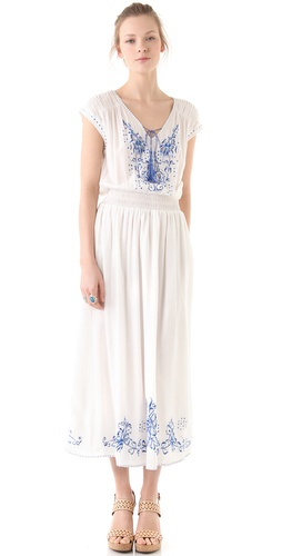 Rebecca Taylor Moroccan Embroidered Maxi Dress