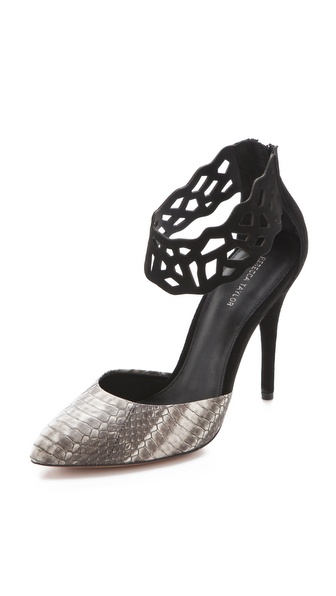 Rebecca Taylor Skylar Snakeskin Pumps