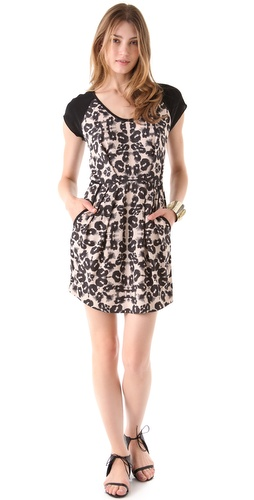 Rebecca Taylor Kaleidoscope Leopard Block Dress