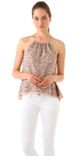 Rebecca Taylor Studded Leopard Camisole