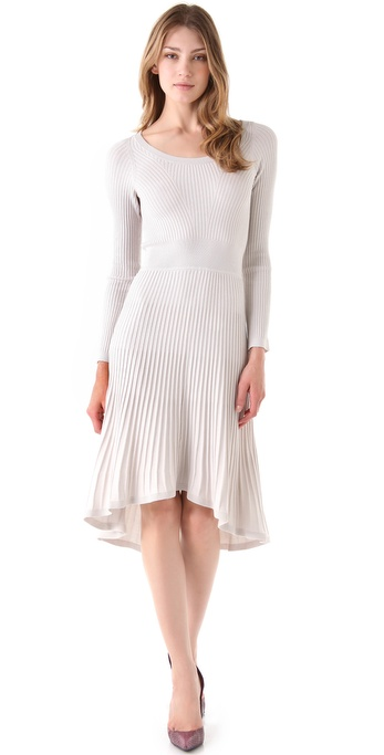 Rebecca Taylor Hi Lo Knit Midi Dress