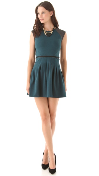 Rebecca Taylor Ponte Cap Sleeve Dress