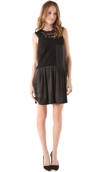 Rebecca Taylor Big Lace Sleeveless Dress