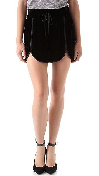 Rebecca Taylor Velvet Track Skirt