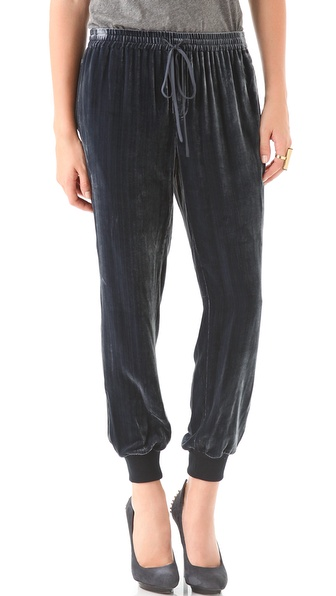 Rebecca Taylor Velvet Track Pants