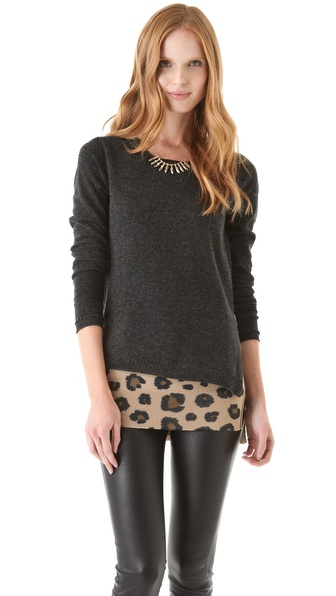 Rebecca Taylor Leo Block Layered Sweater