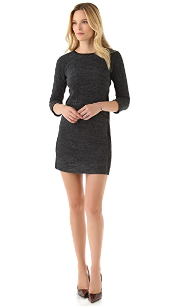 Rebecca Taylor Boucle Dress with Long Sleeves