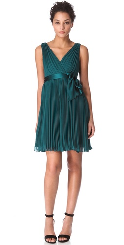 Rebecca Taylor Pleated Dress with Sash at Shopbop.com