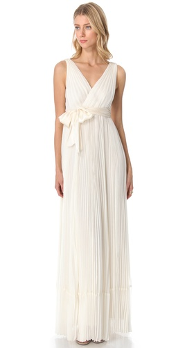 Rebecca Taylor Pleated V Neck Gown at Shopbop.com
