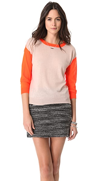 Rebecca Taylor Neon Colorblock Sweater
