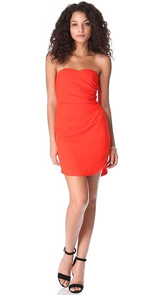 Rebecca Taylor Pebbled Strapless Dress