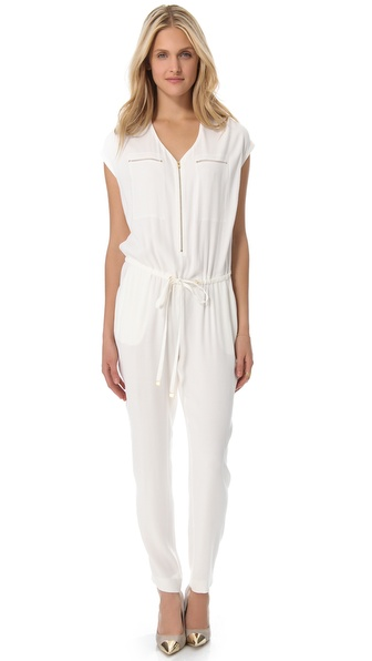 Rebecca Taylor Pebbled Crepe Jumpsuit