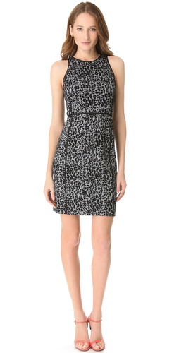 Rebecca Taylor Leopard Knit Shift Dress at Shopbop.com